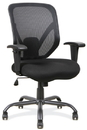 Office Source 11701BLK Big & Tall Mesh Task Chair w/Black Steel Heavy-Duty Base