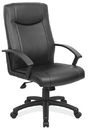Office Source 1201BLK Blk Leather Soft Vinyl Exec Hb Chair