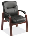 Office Source 1240MBLK Guest Chair w/Mahogany Frame