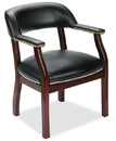 Office Source 271 Guest Chair w/Mahogany Finish