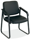 Office Source 2748 Leather Sled Base Guest Chair