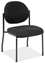 Office Source 2820GBLK Armless Side Chair w/Black Frame
