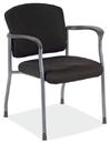 Office Source 2904TGBLK Titanium/Blk Fabric Guest Chair W/Arms