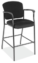 Office Source 2994BLK Blk Frame/Blk Fab Stool W/Arms