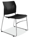 Office Source 3080 Chrome Base Armless Stack Chair