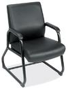 Office Source 540BLK Blk Soft Vinyl Sled Base Guest Chair