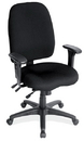 Office Source 8456ASBLK Blk 9106 Hi-Back Task Chair W/Adj Arms