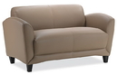 Office Source 9882 Leather Manhattan Loveseat