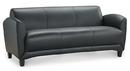 Office Source 9883 Leather Manhattan 3-Seat Sofa