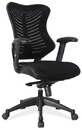 Office Source C12MBFSBLK Task Chair w/Arms & Black Frame