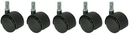 Office Source CASTERSPU Set Of 5 Soft Dual Wheel Casters