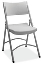 Office Source FBM03 Lt Gray Plastic Chair Folding