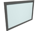Office Source PL71SGM Glass 40X15 Modesty Panel W/Brackets