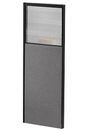 Office Source SPG6624 Pewter/Charcoal 66X24 Half Plexi Panel