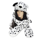 TopTie Hot Animal Hats Dalmatian Caps Warm Faux Fur Fluffy Hooded Scarves