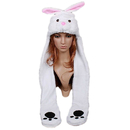 TopTie Animal Hat Cap, Bunny Soft Warm Winter Headwear, With Scarf And Mittens