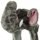 TopTie Faux Fur Snow Winter Ski Hat, Hood Scarf Pocket - Elephant