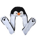 TopTie Penguin Animal Hoods Hat Mittens Gloves Scarf Paws Prints and Ears