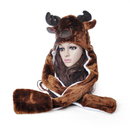 TopTie David's Deer Hat With Long Mittens, Animal Cap, Best Christmas Hat - Elk