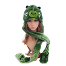 TopTie Green Pig Plush Animal Hat / Scarf / Mittens - Green Pig