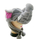 TopTie Plush Animal Hat, Halloween Costume Hat - Elephant