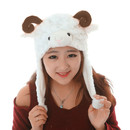 TopTie Ladies Animal Hat, Soft Fleece Lined Hat - Sheep Antelope Beauty Hat