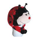 TopTie Animal Hat, Faux Fur, Short with Ear Poms - Ladybug Chicken Duck Bird Parrot