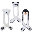 TopTie Halloween Animal Costume Hat, Long Scarf And Mittens