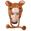 TopTie Halloween Animal Cosplay Hat With Ear Flap, Furry Animal Hood Cap