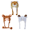 TopTie 3 Packs Halloween Animal Cosplay Hat Furry Cap, Alpaca Squirrel Sheep Party Cosplay