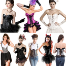 New Bulk Lot Halloween Cosplay Dress for Women Assorted Mixed 5 Pack, 50 Pack Corsets Wholesale