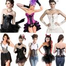 Halloween Cosplay Corset Bustier Dress Costume for Women