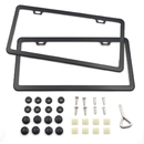 Aspire 2pcs Stainless Steel License Plate Frames, 2 Holes Slim Design Car Plate Covers