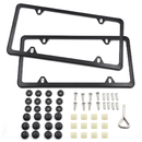 Aspire 2pcs Car License Plate Frames, 4 Holes Stainless Steel License Plate Covers Holders