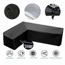Muka Heavy Duty Outdoor Sectional Couch Covers Waterproof  Patio Sectional Sofa Cover L-Shaped Lawn Patio Furniture Cover Left Right Facing Black