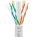 Cmple 1014-N CAT6 BULK 23AWG ETHERNET LAN NETWORK CABLE - 1000 FT White