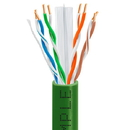 Cmple 1027-N CAT6 BULK 23AWG ETHERNET LAN NETWORK CABLE - 1000 FT Green