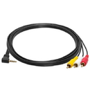 Cmple 104-N 3.5mm to 3 RCA Camcorder Video Audio Cable - 6 ft