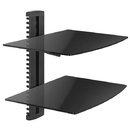 Cmple 1082-N Economy Aluminum and Tempered Glass DVD Mount (Max 17.6Lbs) - 2 Shelf