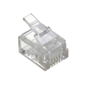 Cmple 1219-N RJ12 Modular Plugs 6P6C for Solid - Pack of 50
