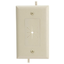 Cmple 1233-N Cable Plate with Flexible Opening, 1 Gang - Ivory