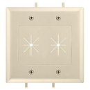 Cmple 1238-N Cable Plate with Flexible Opening, 2 Gang - Ivory