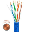 Cmple 1301-N Cat-5E Bulk Cable 350MHz UTP 24AWG Bare Copper CMR Rated 1000FT Blue