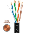 Cmple 1303-N Cat-5E Bulk Cable 350MHz UTP 24AWG Bare Copper CMR Rated 1000FT Black
