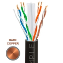 Cmple 1310-N Cat-6 Solid UTP PVC 23AWG Bare Copper CMR Cable with Gigabit Ethernet Black