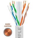 Cmple 1311-N Cat-6 Solid UTP PVC 23AWG Bare Copper CMR Cable with Gigabit Ethernet White