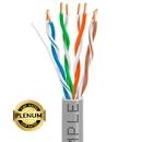 Cmple 1324-N PLENUM CAT5E Bulk Cable UTP 24AWG CMP Rated Bare Copper 1000ft Solid Gray, Cat5e Bulk Cables