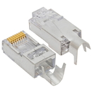 Cmple 1402-N Platinum Tools EZ-RJ45 Shielded Cat5e/6 Connector (external ground). 10/Clamshell