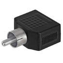 Cmple 157-N RCA Plug to 2x3.5mm Mono Jack Adapter