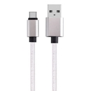 Cmple 1610-N USB-C (USB Type C) to USB (USB-A) Braided Data Charging Cable - 6 Feet, White